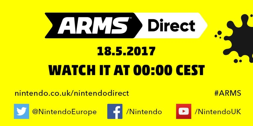 SURPRISE! Nintendo Direct for ARMS incoming!